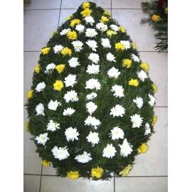 Coroana funerara 80 crizanteme