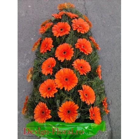 Jerba funerara gerbera portocalie