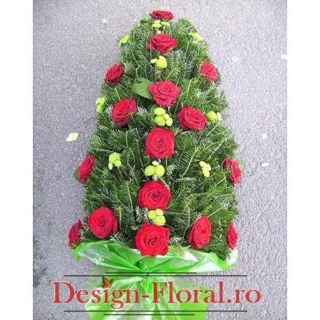 Jerba funerara trandafiri si santini