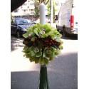 Lumanari nunta glob orhidee Cymbidium si Hypericum