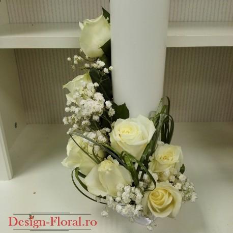 umanare botez scurta trandafiri albi