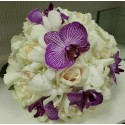 Buchet mireasa mix de orhidee