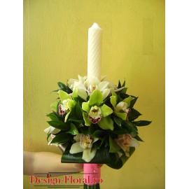 Lumanari nunta sferice din orhidee imperiala