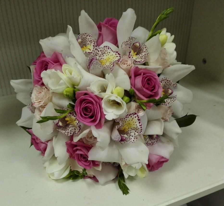 Buchet Mireasa Orhidee Si Trandafiri Aqua Floraria Design Floral