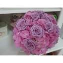 Buchet mireasa hortensie roz