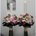 Lumanari nunta orhidee si dianthus