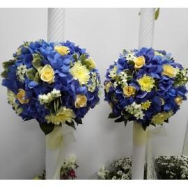 Lumanari nunta Hortensie albastra
