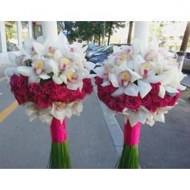 Lumanari nunta orhidee imperiala