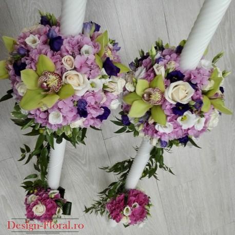 Lumanari nunta colorate