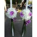 Lumanari nunta hortensie si orhidee