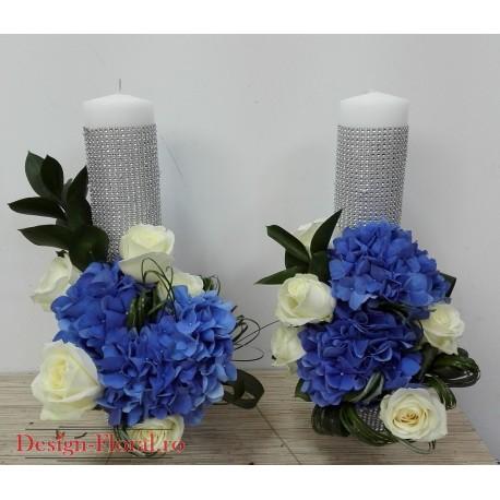 Lumanari scurte hortensie albastra