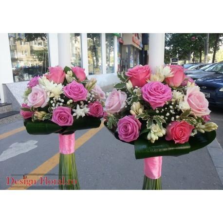 Lumanari nunta tuberoze si trandafiri