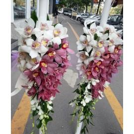 Lumanari nunta curgatoare orhidee
