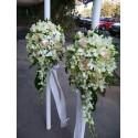 Lumanari de nunta frezii, trandafiri si orhidee