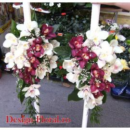 Lumanari nunta din orhidee Cymbidium