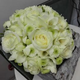 Buchet cununie flori albe