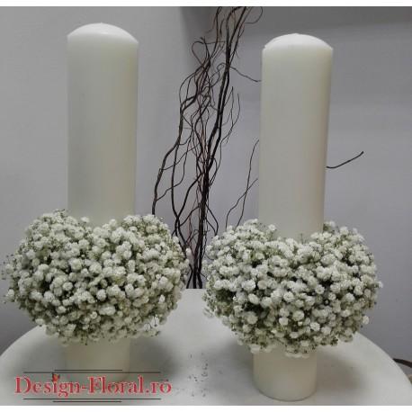Lumanari nunta floarea miresei