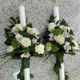 Lumanari nunta trandafiri si green trick
