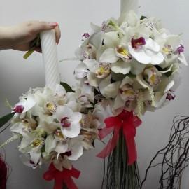 Lumanari nunta orhidee Phalaenopsis