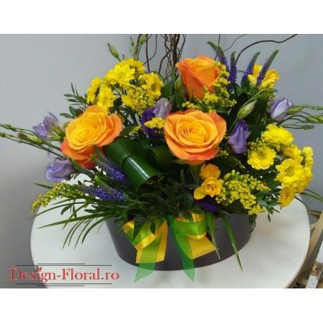 Aranjament Floral In Vas Ceramic Floraria Design Floral Florarie