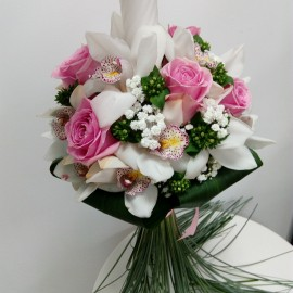 Lumanari cununie orhidee imperiala si trandafiri
