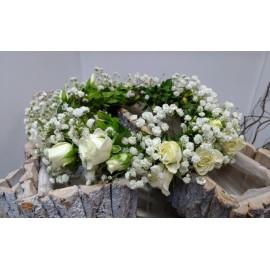Coronita minirose albe