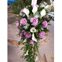 Lumanari de nunta cale si trandafiri