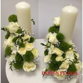 Lumanari nunta scurte Greenery