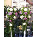 Lumanari nunta curgatoare trandafiri si Santini
