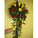 Lumanari nunta curgatoare cale si trandafiri