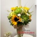 Lumanare botez floarea soarelui si grau