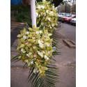 Lumanari nunta curgatoare orhidee si frezii