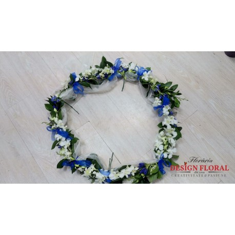 Aranjament cristelnita Gentiana albastra