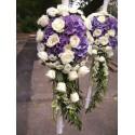 Lumanari nunta curgatoare hortensie, trandafiri si orhidee