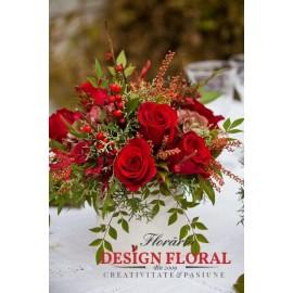 Aranjament floral de Craciun