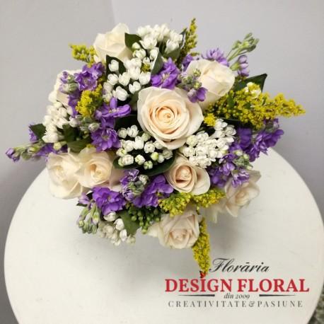 Buchet De Mireasa Asimetric Floraria Design Floral Florarie