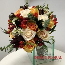 Buchet mireasa mix floral deosebit