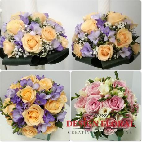 Pachet nunta frezii lila