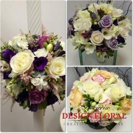Pachet nunta in tonuri de crem si lila