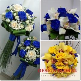 Pachet nunta trandafiri albastrii