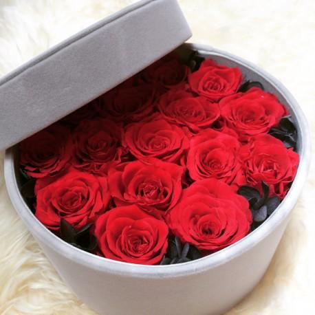Aranjament 17 trandafiri rosii criogenati