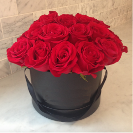 Aranjament 19 trandafiri rosii criogenati