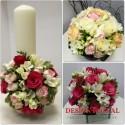 Pachet nunta frezii si trandafiri