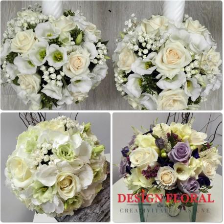 Pachet de nunta bouvardia si trandafiri