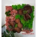 """Tablou cu licheni """" Flower"""""""