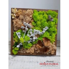 """Tablou cu licheni """" White Tree"""""""