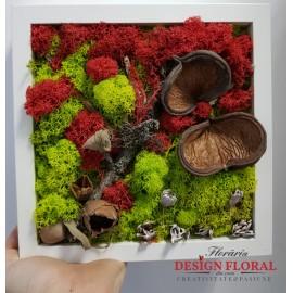 """Tablou cu licheni """" Red Touch"""""""