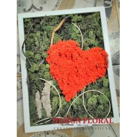 """Tablou cu licheni """" In Love"""""""