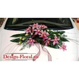 Aranjamente masina din orhidee imperiala