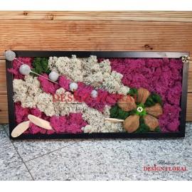 """Tablou cu licheni """" Flower Power"""""""